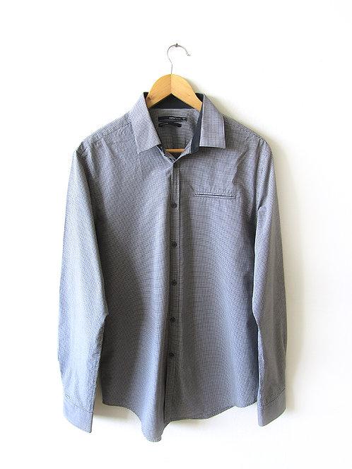 L חולצת כפתורים אפורה מידה