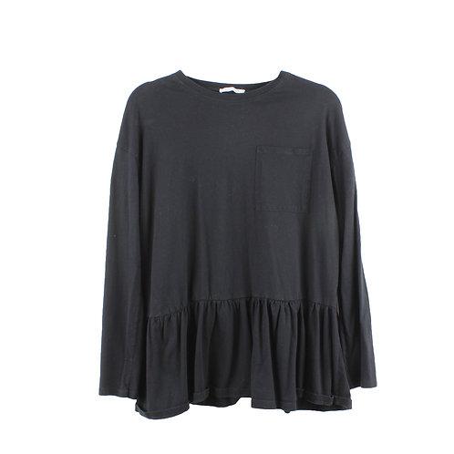M | ZARA חולצת אוברסייז פפלום