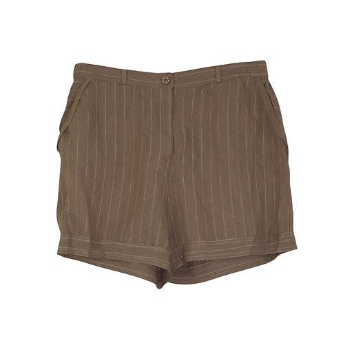 L | Manila Grace מכנסיים קצרים עם כיסים