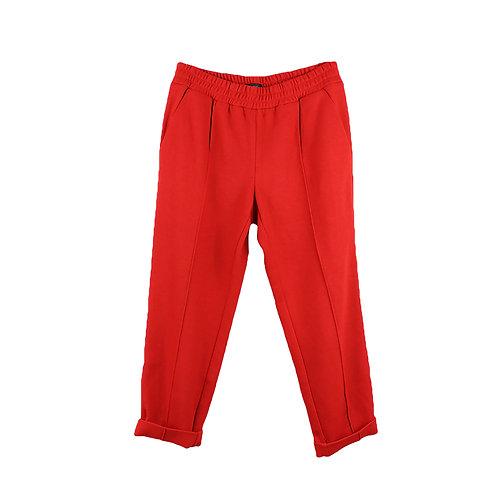 L | J CREW מכנסי צמר אדומים