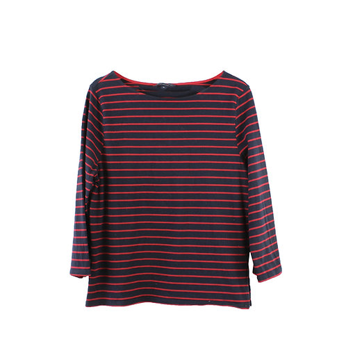 M | FRENCH CONNECTION חולצת פסים אדומים