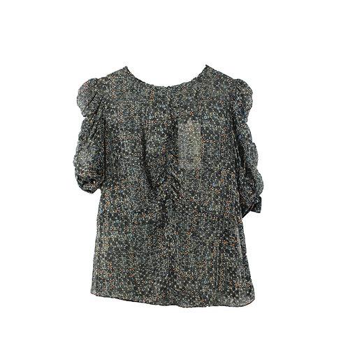 M | ISABEL MARANT for H&M חולצת בוהו משי עם טיקט