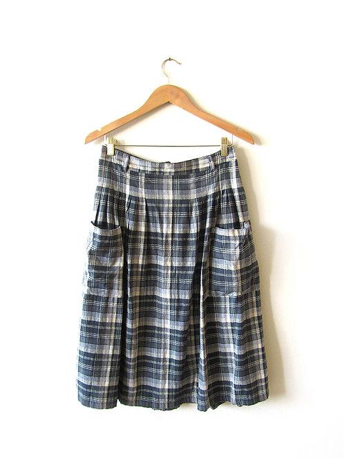 38 חצאית משבצות מידה