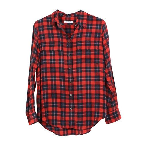 S | Equipment  חולצת משי משבצות