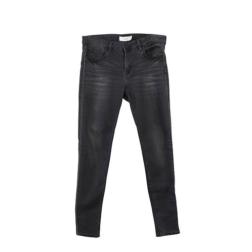 M | MANGO ג׳ינס שחור ווש