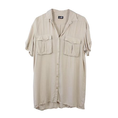 S | CHEAP MONDAY חולצה ארוכה מכופתרת
