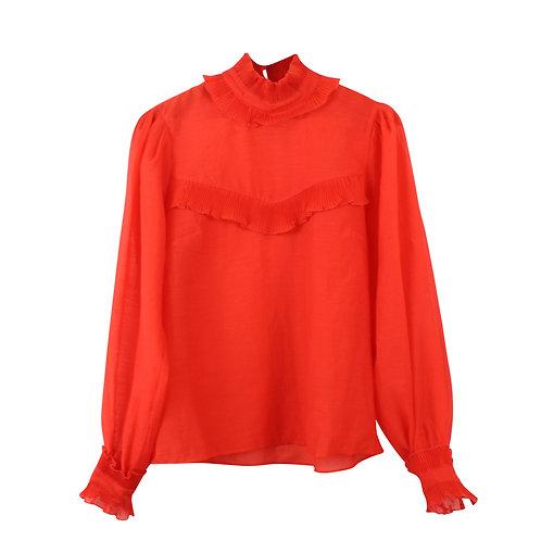 M\L | חולצה שקופה אדומה