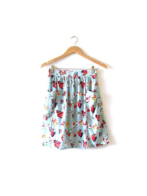 S חצאית פרחונית מידה