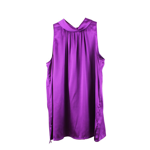 L | Massimo Dutti חולצת סאטן סגולה