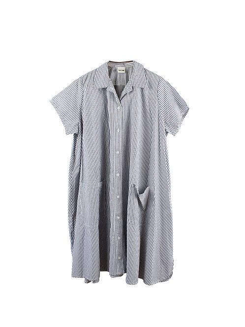 OS | TWOTONE  שמלת פסים וכיסים