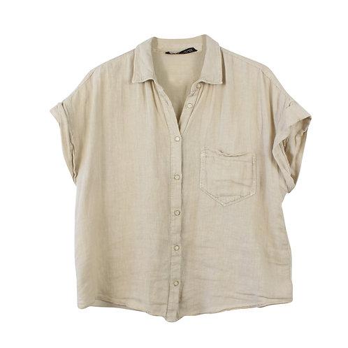 M/L | MANGO חולצת פשתן