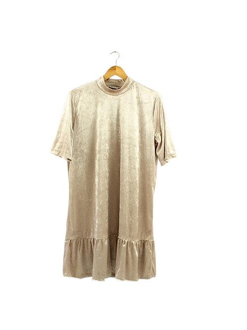 L שמלת קטיפה דקה