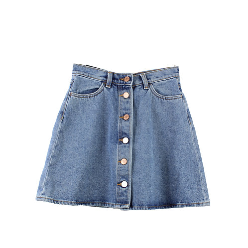S  | MONKI חצאית ג׳ינס עם טיקט