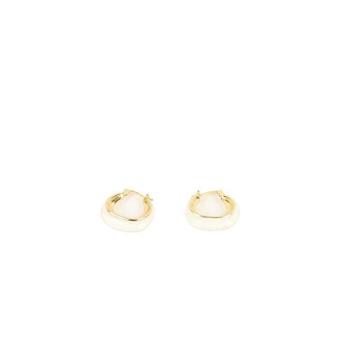 CELINE | Twisted enamel hoop earrings