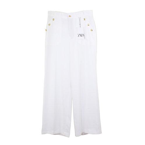 L | ZARA מכנסיים לבנים