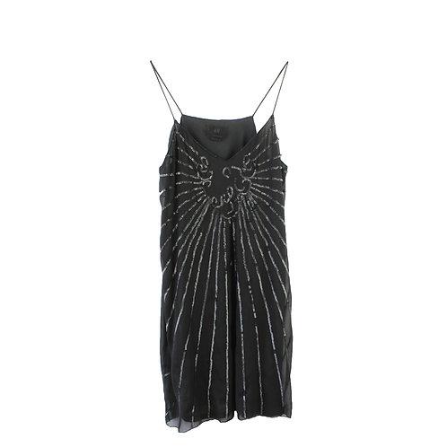 L | שמלת שיפון ופאייטים