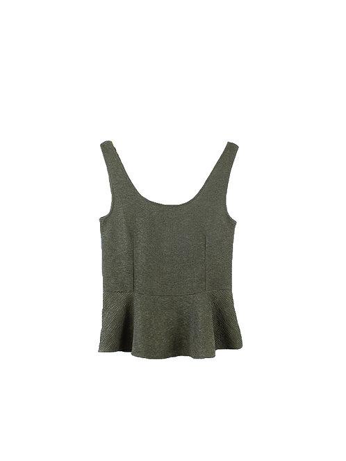 L | חולצת פפלום קרפ