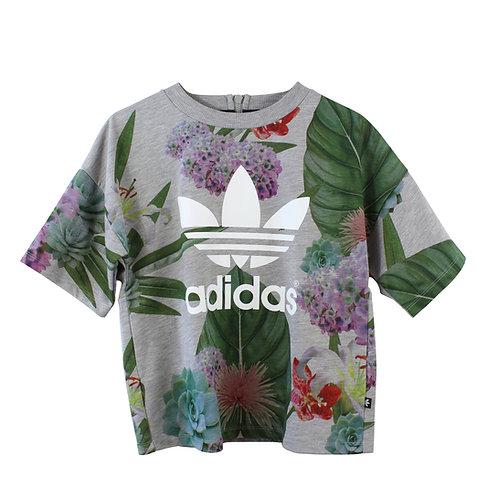 XS/S | ADIDAS חולצת פוטר עם הדפס