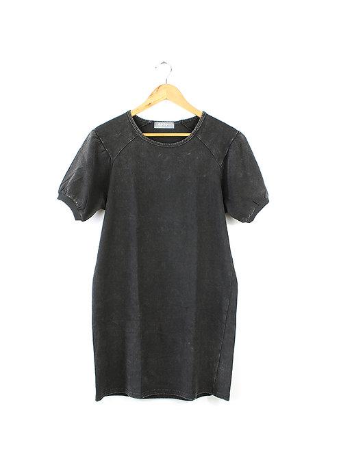 S/M שמלה בצבע שחור שטוף