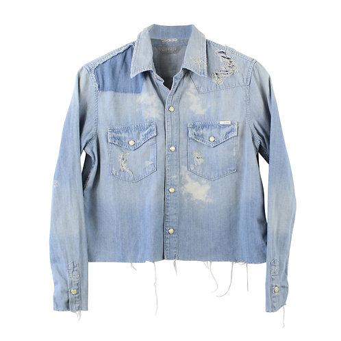 XS | MOTHER חולצת ג׳ינס קרופ