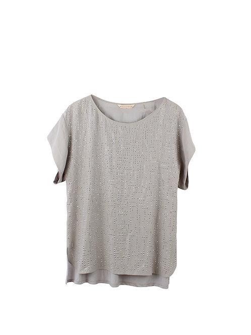 L | REBECCA TAYLOR חולצת משי
