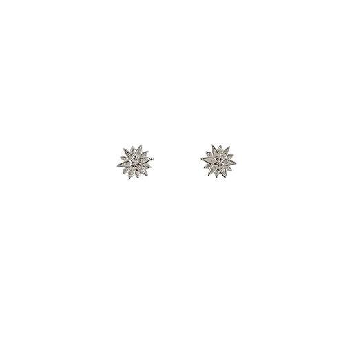 MAGNOLIA | עגילי כסף כוכבים
