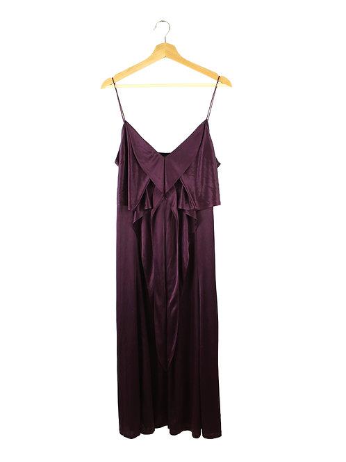 L- DKNY שמלה בצבע סגול יין