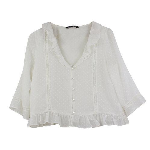 L | ZARA חולצת שיפון