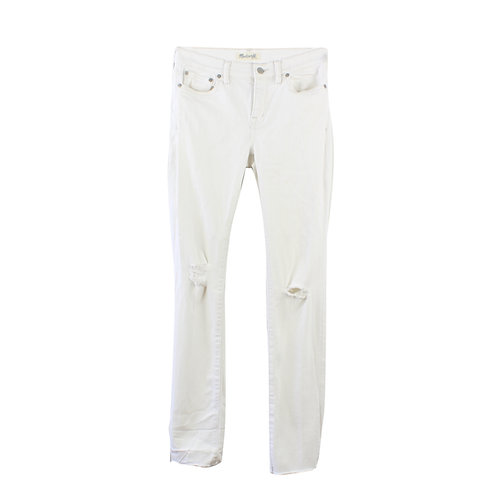 M   Madewell ג׳ינס לבן ישר