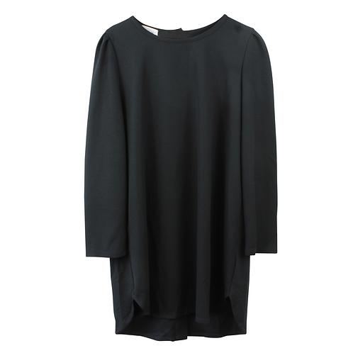 L   LIAH שמלה שחורה גב כפתורים