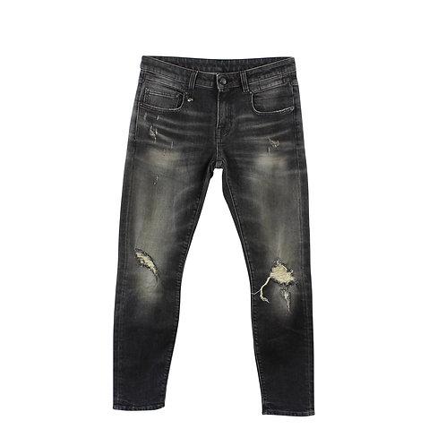 M | R13 ג׳ינס בוי סקיני שחור עם טיקט