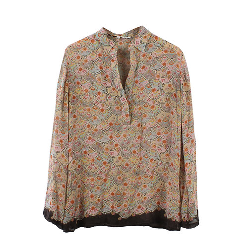 L | ZARA חולצת משי דקיקה
