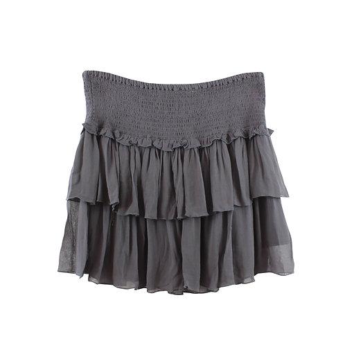 M   SACK'S חצאית ויסקוזה אפורה