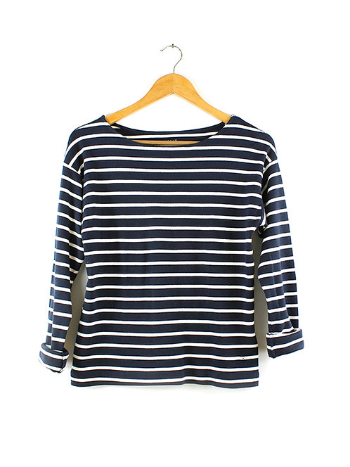 XS חולצת פסים כחול/לבן