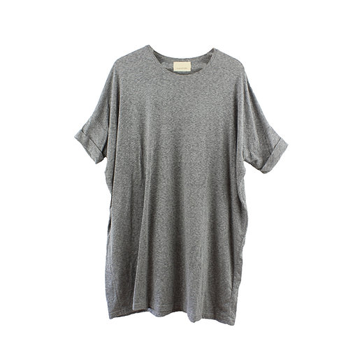M | by the sea חולצת שמלה אוברסייז אפורה