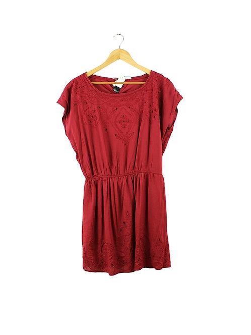 XL שמלת בורדו גומי במותן