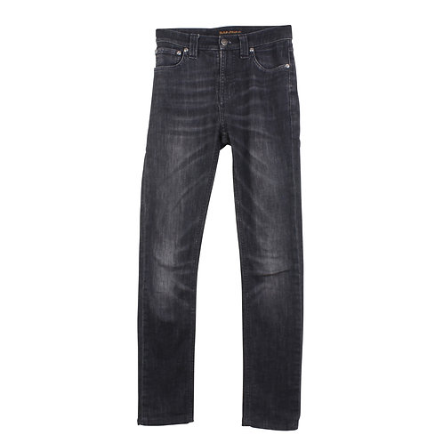 S | Nudie Jeans ג׳ינס שחור שטוף