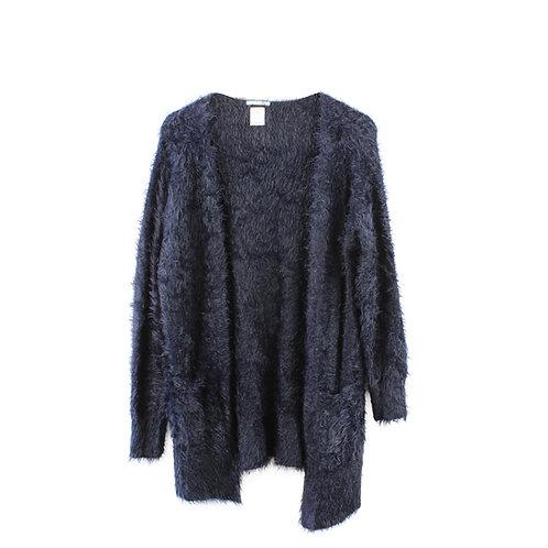 M | ZARA סוודר שאגי כחול