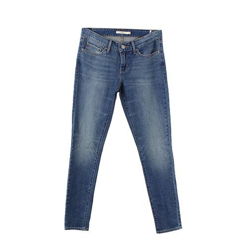 M   Levi's 711 Skinny Jeans Midwash