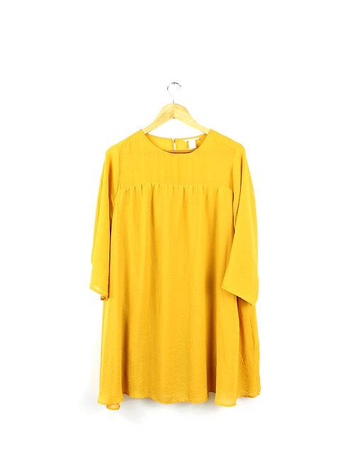 שמלה בצבע חרדל-44