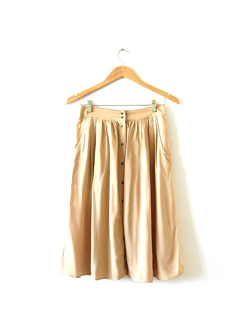 XS חצאית מידי קאמל מידה