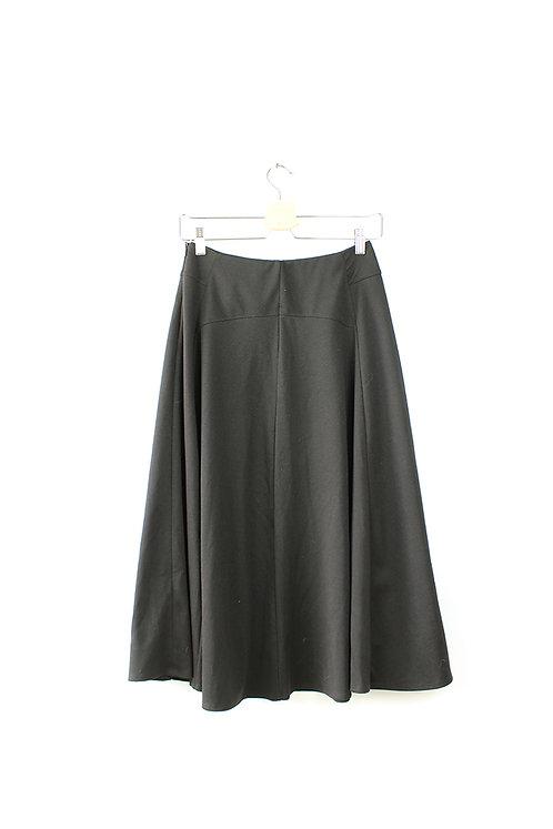 חצאית מידי שחורה מידה 36