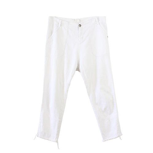 L | MADE ג׳ינס פשתן לבן