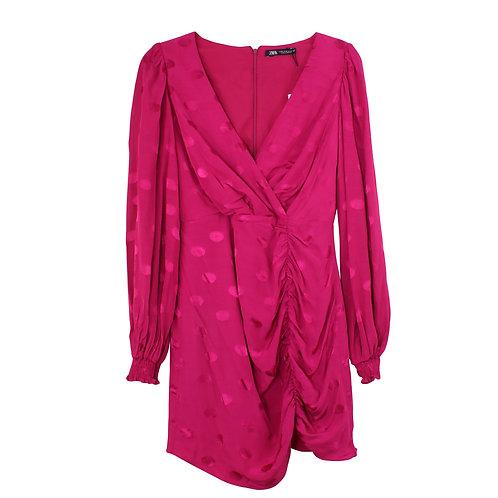M   ZARA שמלת ערב פוקסיה