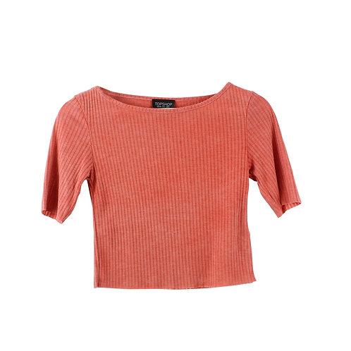 S | TOPSHOP חולצת קרופ ריב