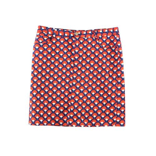 XL | SARAH JOHN חצאית מידי הדפס