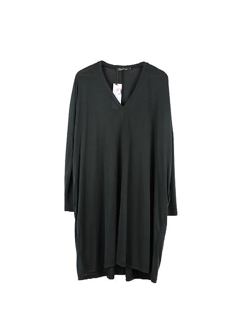 OS | Alef Alef שמלת אוברסייז שחור פחם