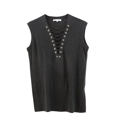 S | IRO  חולצת פשתן עם שרוך