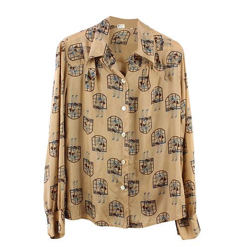 M/L   חולצה מכופתרת וינטג׳
