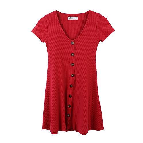 S | HOLLISTER שמלת ריב כפתורים